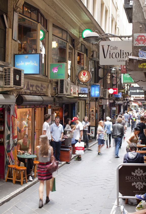 Melbourne Victoria Australia. Centre Place/Degraves St. City