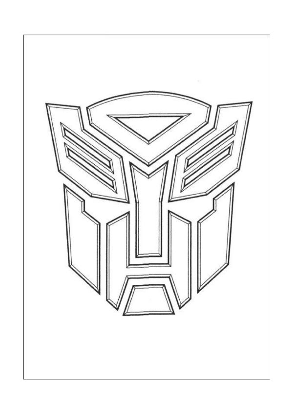 Dibujos Para Colorear Para Niños Transformers 1 For Kids Food Or
