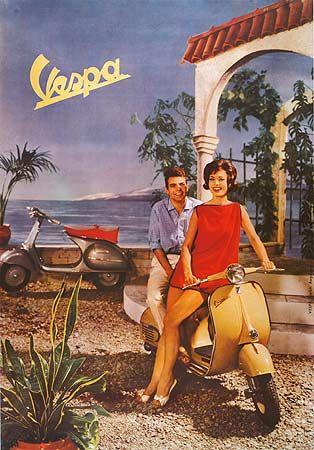 Vespa Werbung in den Fünfziger Jahren                              …