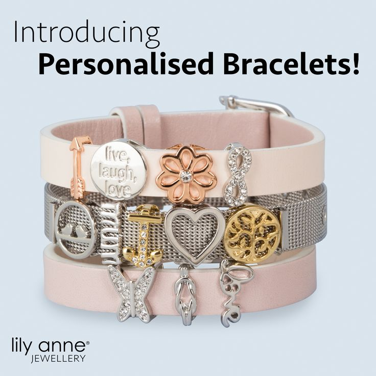 Check out our stunning new range of Personalised Bracelets! Go to www.lilyannejewellery.com.au to view our entire collection.