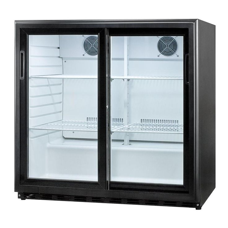 Sliding Glass Door Refrigerator