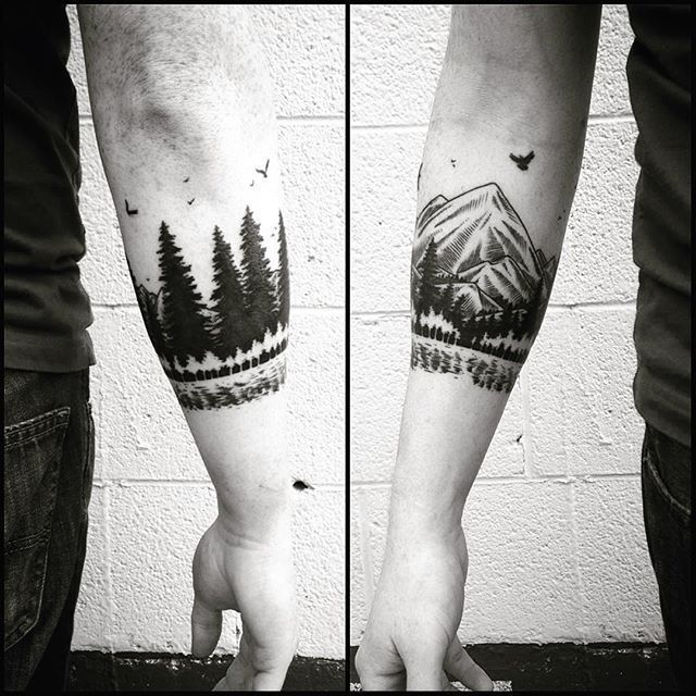 Arm-Tattoo-Armband Wald vielleicht nächste Idee