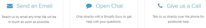Shopify provides great support.