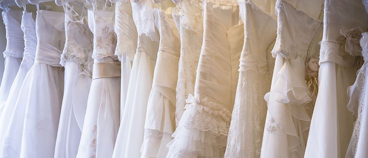 Wedding gowns display