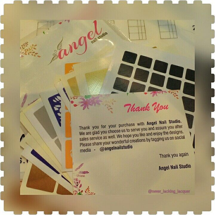 Hello loves!! I just want to say a very big thank you to lovely Veeral from @angelnailstudio who has sent me a huge stack of beautiful nail vinyls to review! I'm sure you are all going to love seeing these beauties in action! Xxxx