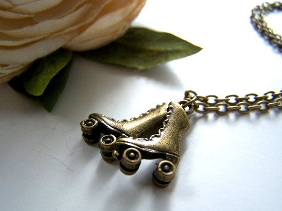 the rollerskate necklace.