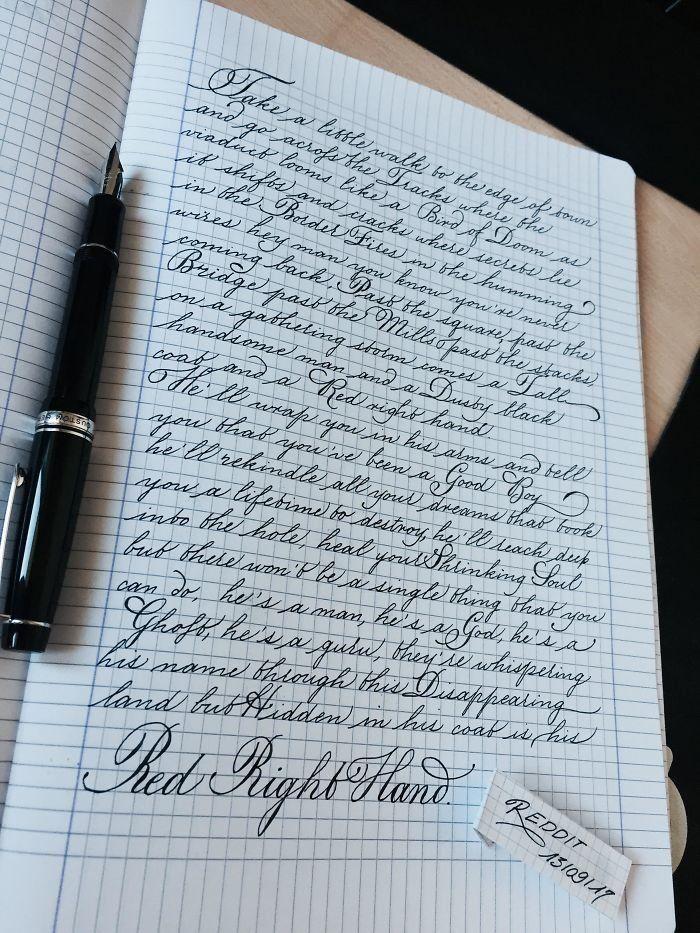Годовщиной свадьбы, красивый почерк в картинках