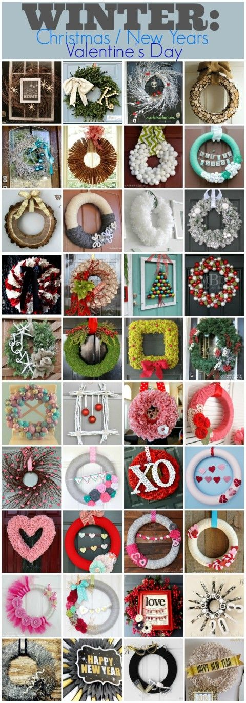 The Best Wreath Tutorials for Every Holiday and Season @mccbabe36 saw this and thought of your door. :)