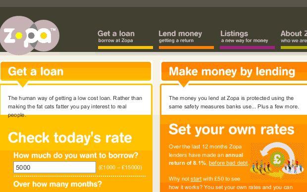 Offre de crédit conso innovante / P2P lending - Zopa