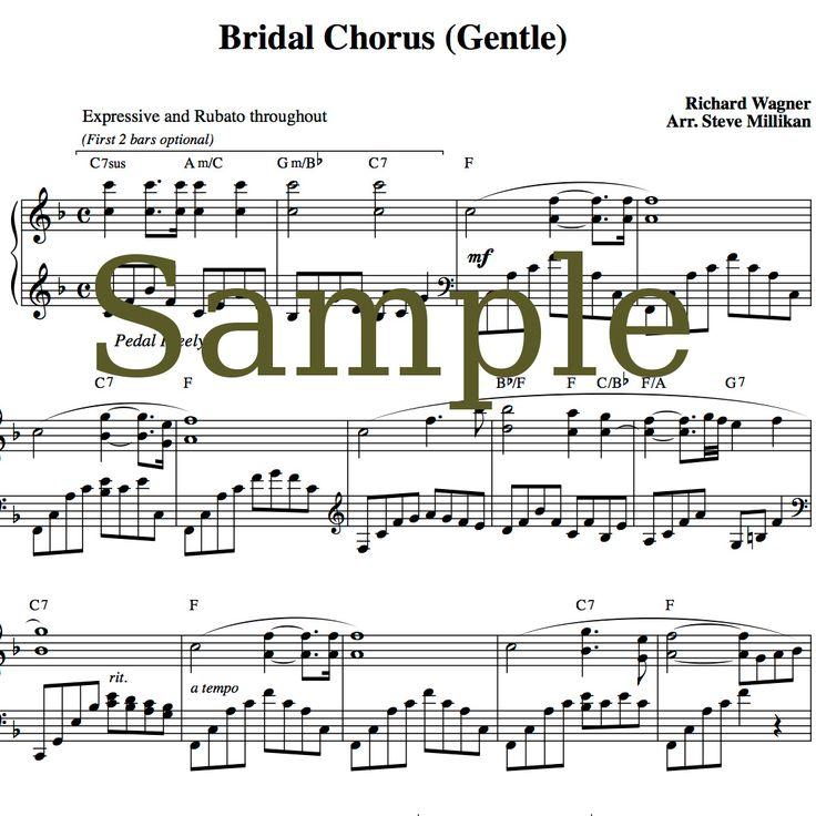 Bridal Processional Songs: Bridal Chorus Sheet Music (Here Comes The Bride, Wedding