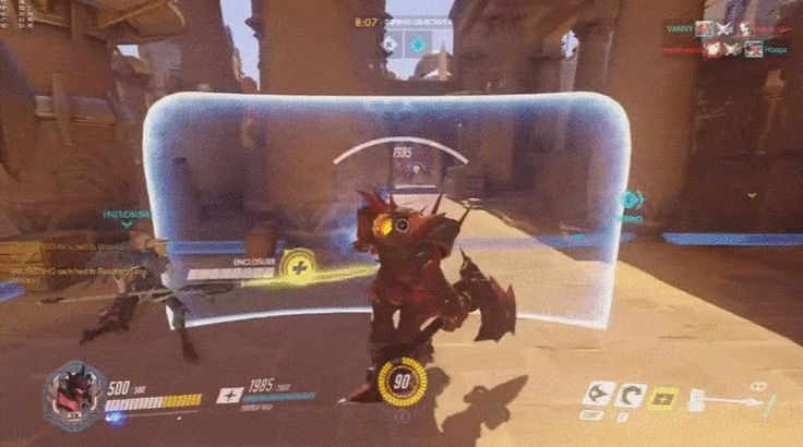A valiant Overwatch sacrifice. In this clip from silvert0rch, a Reinhardt player…