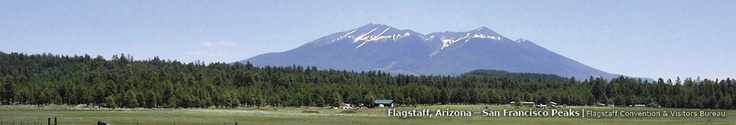 Flagstaff, Arizona—San Francisco Peaks decorate the landscape in the  northern part of the state.