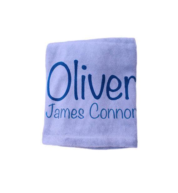 Boy Blanket Personalised Blanket Baby Blanket by TheUniqueCo