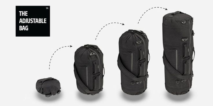 pre-order from $149 BUY NOW  With three sizes and 12 configurations, The Adjustable Bag (TAB) is a multi-sized, multifunction, collapsible bag. Its extreme versatility makes it the only bag you'll ever need for travel.