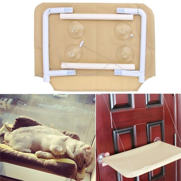 Pratico Lavabile Funny Cucciolo Pet Amaca Finestra Montata Cat Bed Soleggiato Sedile Macchina Pet Cat Gancio Letto Accessori Per Animali Domestici