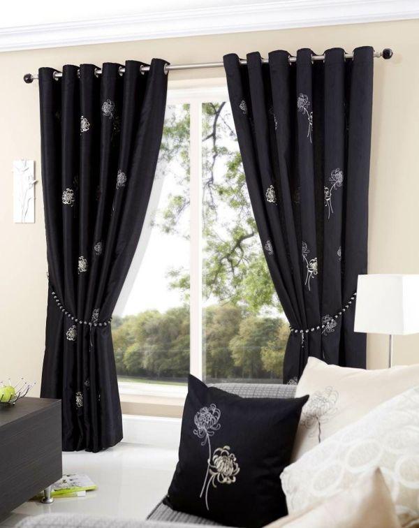 25+ beste ideeën over Gardinen Schwarz Weiß op Pinterest - gardinen muster für wohnzimmer