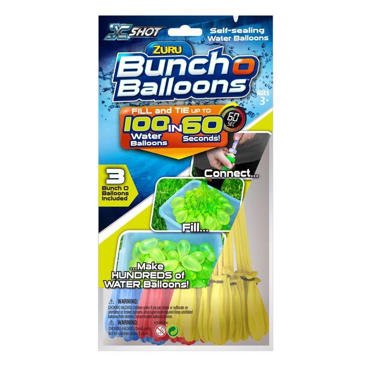 Bunch O Balloons Water Balloons 100 balloons in 60 Seconds