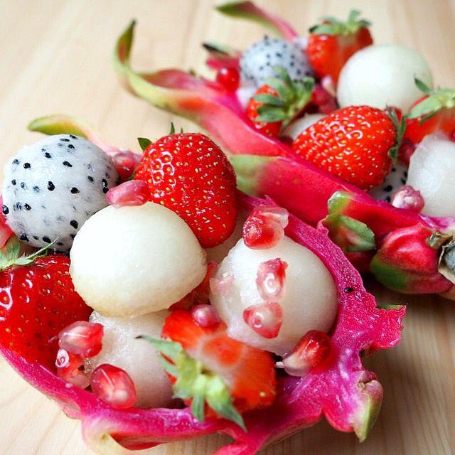 Pitahaya fruit salad
