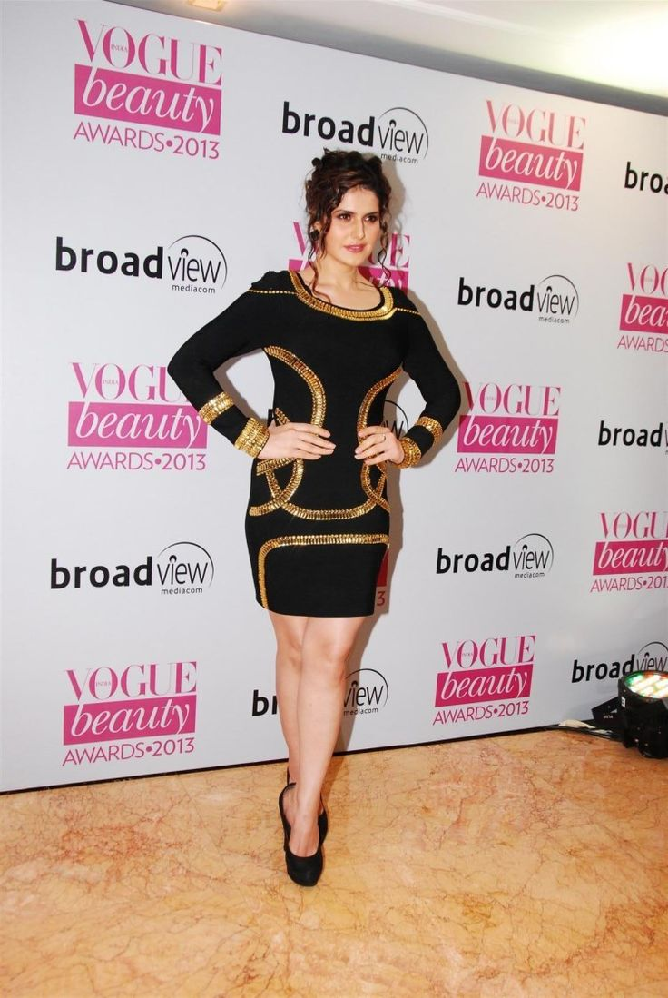 Zarine Khan at Vogue Awards 2013.