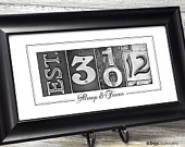 anniversary: Numbers Photos, Guest Books, Gifts Ideas, Anniversaries Ideas, Anniversaries Gifts, Cute Ideas, Cool Ideas, Photos Art, Wedding Gifts