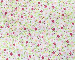 "Tecido ""Floral Rosa"""