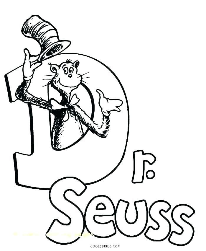 Cat In The Hat Coloring Pages Download Dr Seuss Hat Coloring