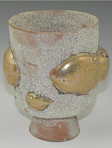 Beatrice Wood, Gold Fish Vase
