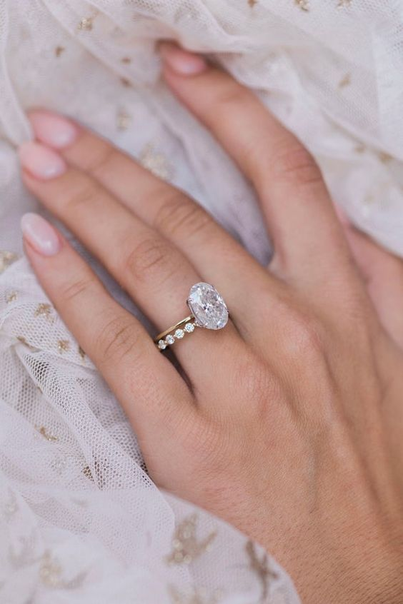 2 CT Oval Halo Moissanite Ring Diamond Engagement Ring 14KT Yellow Gold Wedding Ring sterling silver