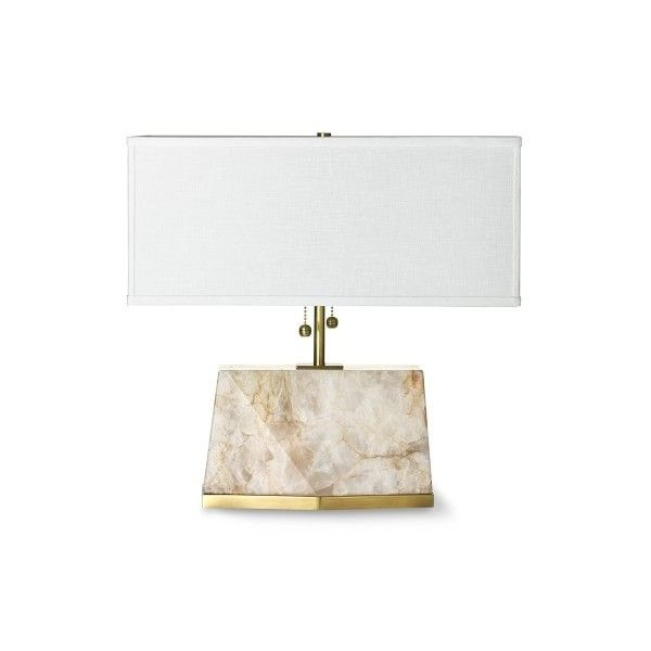 Williams Sonoma Short Cut Stone Table Lamp ($1,450) ❤ Liked On Polyvore  Featuring