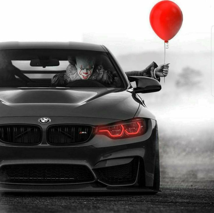 Bmwcarimage: BMW F82 M4 Black Pennywise Clown