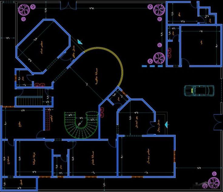 مكتب الراجحي الهندسي تصاميم لفيلا مميزة مقاسات الارض 24 28 متر علي شارعين عليها طلب عالي House Plans Big Houses How To Plan