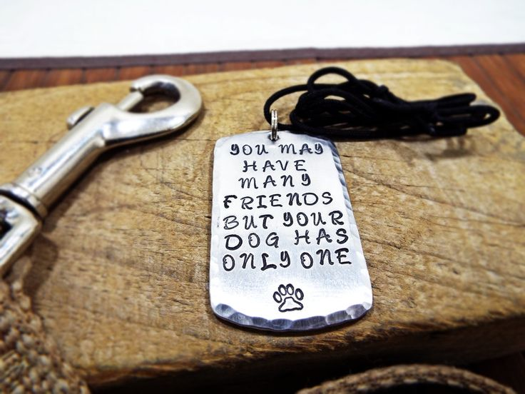 You May Have Many Friends But Your Dog Has Only One Necklace - Aluminum Personalized Hammered edge with dog paw Special Gift for dog lovers by Aluminiopassions on Etsy