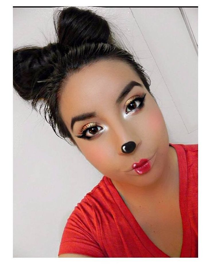 Minnie Mouse inspired makeup