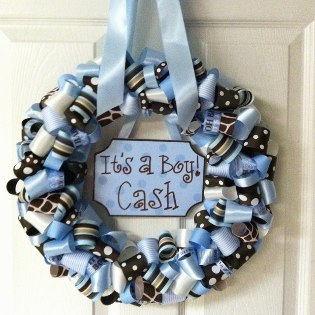 Hospital Door Wreath cute for a baby shower too!