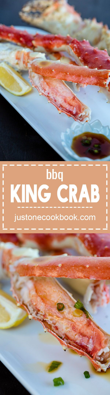 BBQ King Crab with Ponzu Sauce | Easy Japanese Recipes at JustOneCookbook.com