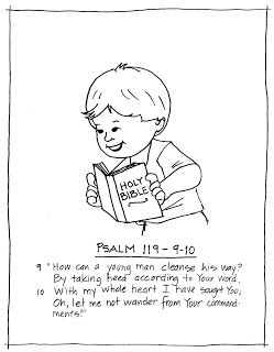 coloring pages for psalm 119 - photo#19