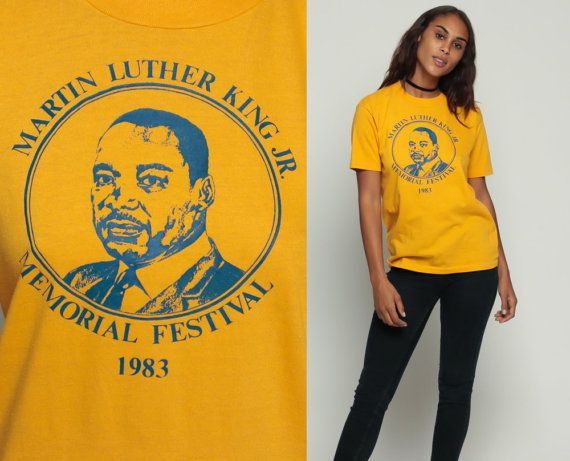 Martin Luther King Shirt 1983 Memorial Festival Graphic T