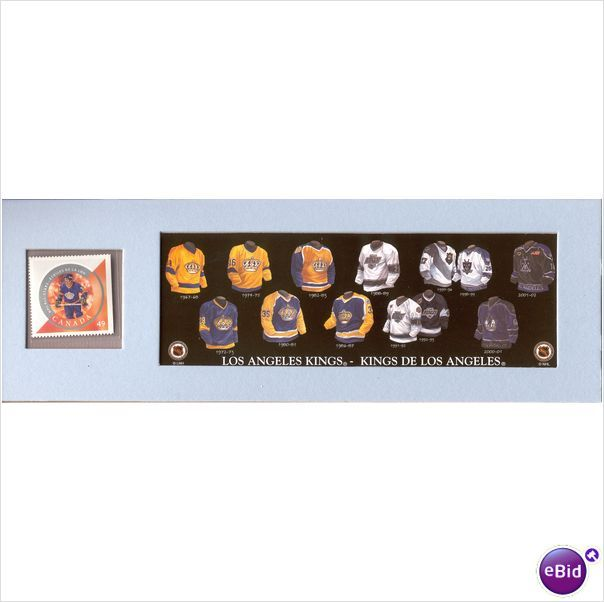 2004 NHL Heritage LA Kings Jersey and Postal Stamp Set Marcel Dionne New 063491029103 on eBid Canada