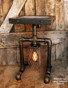 Industrial Lamp Table or Stand Floor 6 #vintageindustrialfurniture