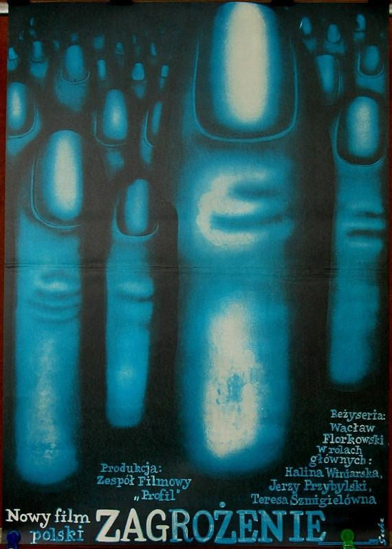 Poster Endangerment  Polish 1976 film. Directed by Waclaw