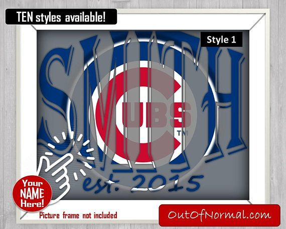 Chicago Cubs World Series Champions Custom Last Name Photo