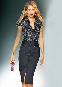 Модный аутфит - узкая юбка выше колена винтаж
