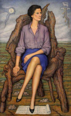 Retrato de la escultora Ángela Gurría por Juan O'Gorman