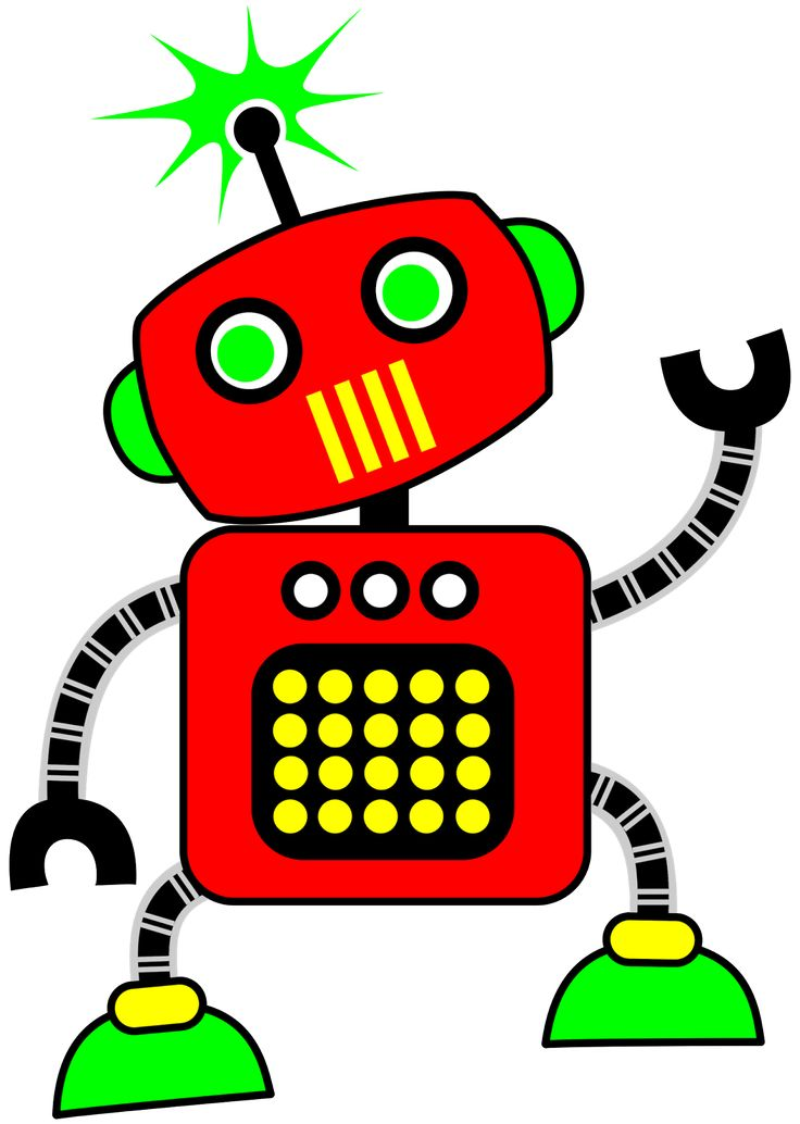 Robot clip art clipart image #13361