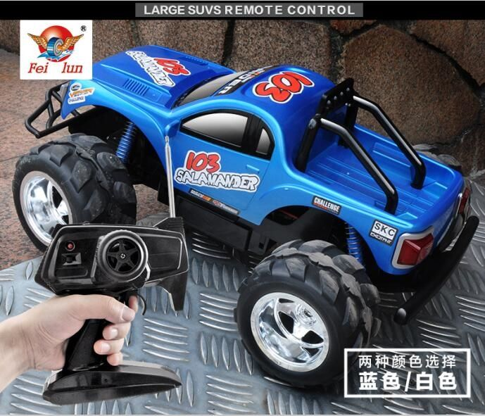 94.50$  Buy now - http://ali04f.worldwells.pw/go.php?t=32747242351 - Express transport High Quality FC103 4CH 1:10 45CM large RC massive truck radio control monster truck car model with LED lights 94.50$