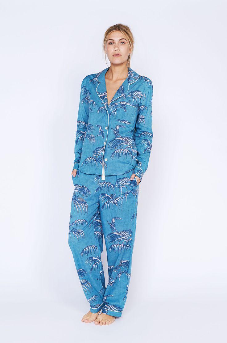 Women's Pyjama Set | Aqua | Desmond & Dempsey