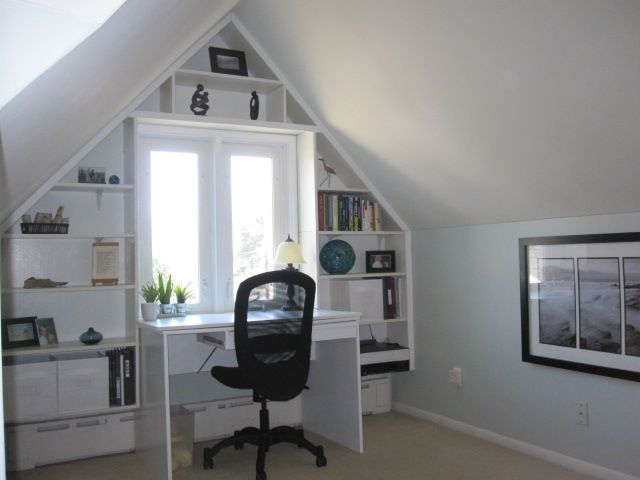 attic office ideas. ikea hackers bright builtin office nook from reused ikea pieces i would get a bigger desk and have it facing the other way out wall bit attic ideas