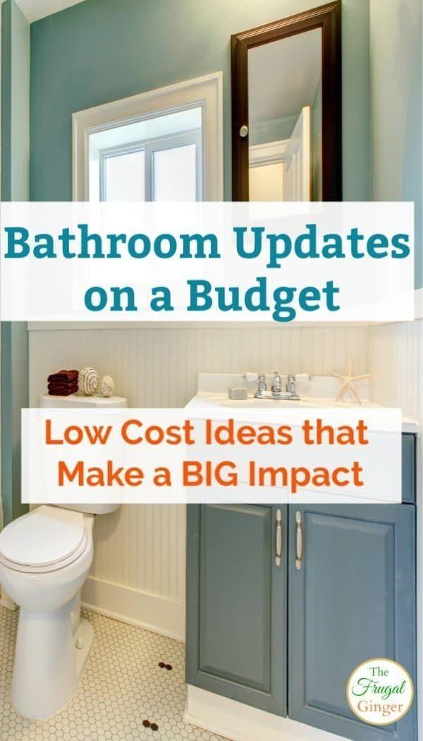 Bathroom Updates On A Budget Low Cost Ideas That Make A Big Impact Update Small Bathroom Bathroom Update Diy Bathroom Remodel
