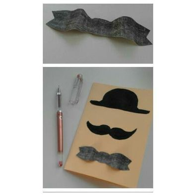 Moustache Father's Day Card