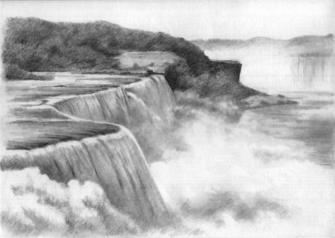 Landscape drawings in pencil pencil on drawing paper tags blackandwhite clouds drawings